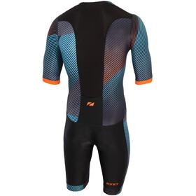 Zone3 Activate+ Lyhythihainen Triathlon-puku Miehet, momentum/blue/grey/orange